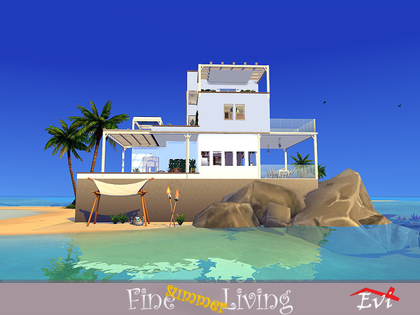 Fine summer Living house by evi at TSR image 788 Sims 4 Updates