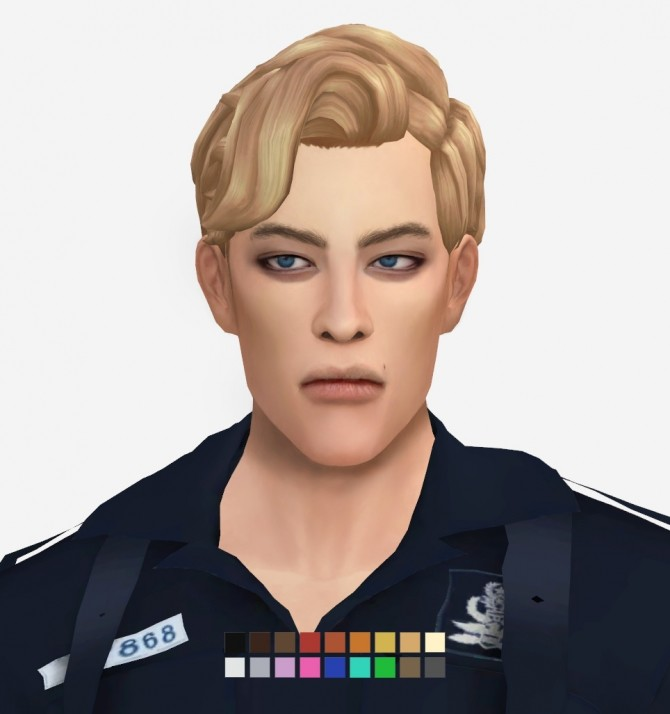 Sims 4 Björn Hair by Musae at EFFIE