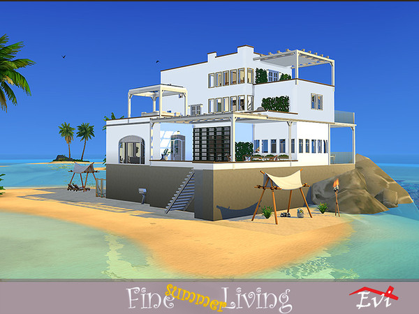 Fine summer Living house by evi at TSR image 799 Sims 4 Updates