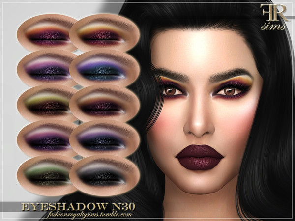 FRS Eyeshadow N30 by FashionRoyaltySims at TSR image 808 Sims 4 Updates