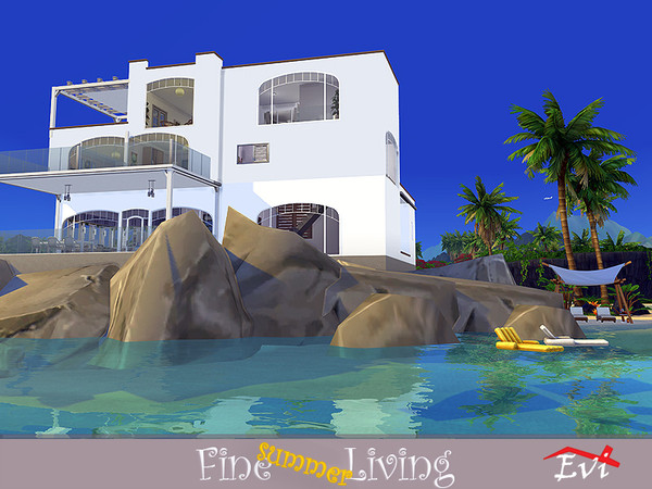 Fine summer Living house by evi at TSR image 809 Sims 4 Updates