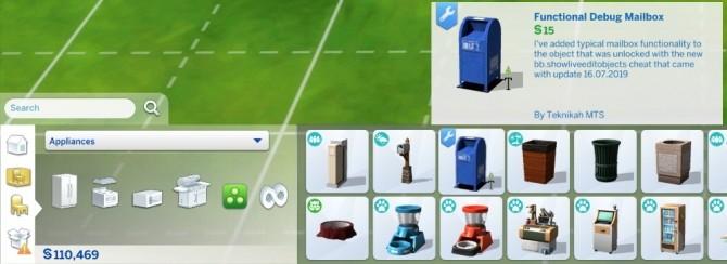 Debug Mailbox Unlocked and Usable by Teknikah at Mod The Sims image 8117 670x244 Sims 4 Updates