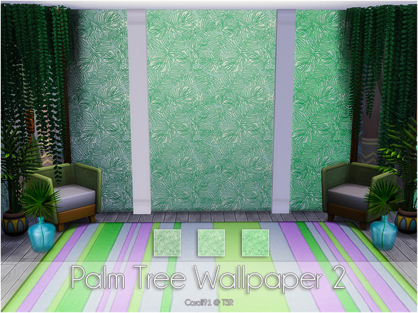 Palm Tree Wallpapers by Caroll91 at TSR image 812 Sims 4 Updates