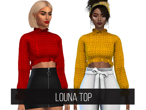 Sims 4 Louna Top by FifthsCreations at TSR