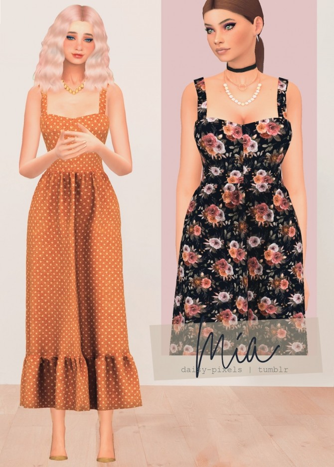 Mia dress at Daisy Pixels image 8312 670x937 Sims 4 Updates
