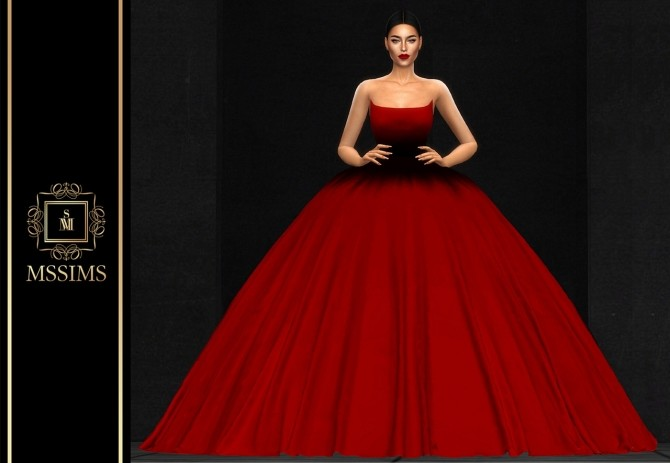 Sims 4 POEM COUTURE 2019 GOWN (P) at MSSIMS