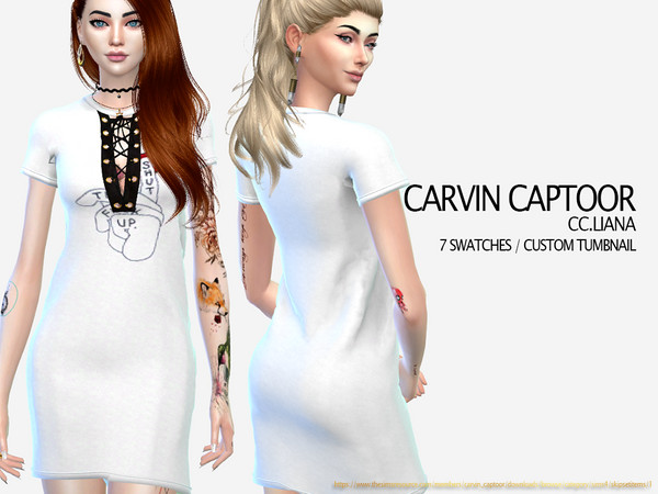 Sims 4 Liana dress by carvin captoor at TSR