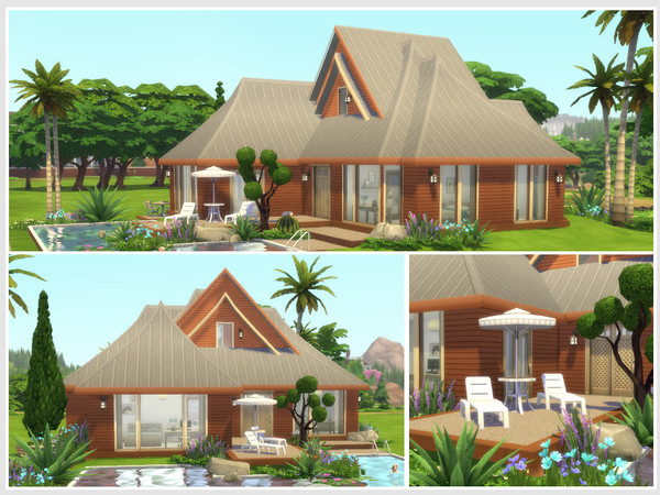 Sims 4 Aloha house by philo at TSR