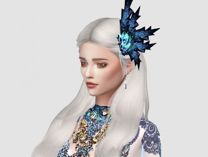 Sims 4 Arona Gown + crowns at HoangLap's Sims