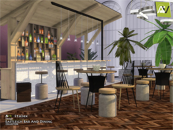 Eastleigh Bar And Dining by ArtVitalex at TSR image 859 Sims 4 Updates