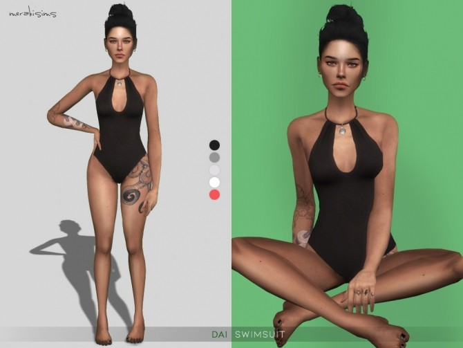 Sims 4 Dai Swimsuit at Merakisims