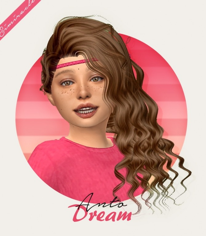 Sims 4 Anto Dream Hair Kids Version 3T4 at Simiracle