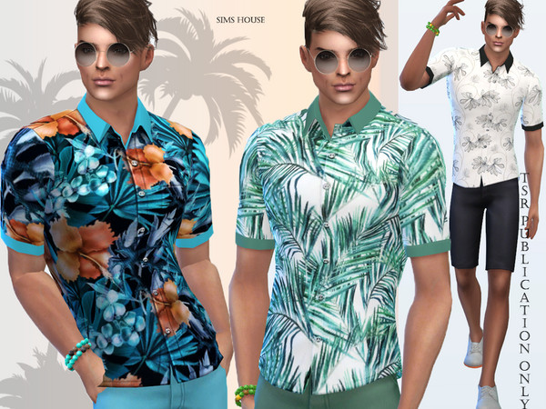 Tropics mens shirt by Sims House at TSR image 88 Sims 4 Updates