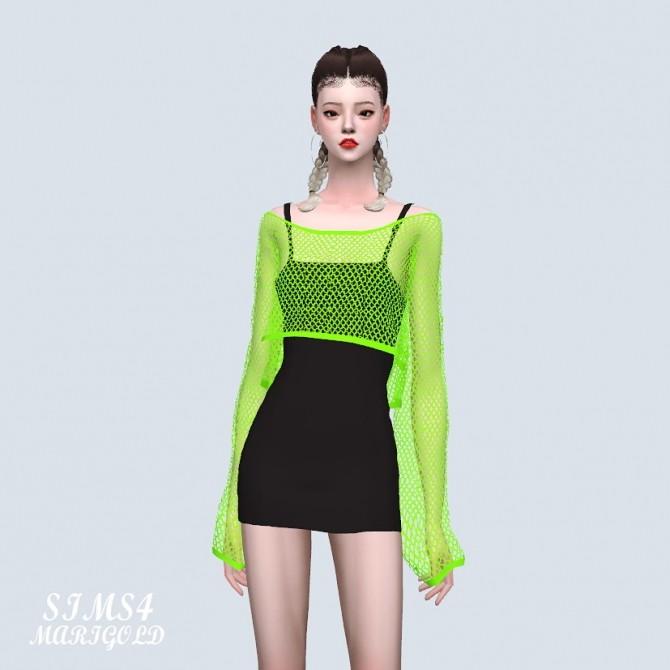 Crop See through Knit Dress (P) at Marigold image 8816 670x670 Sims 4 Updates