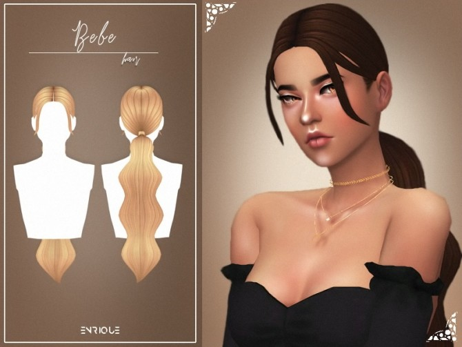 Sims 4 Bebe Hairstyle & Over Necklace at Enriques4