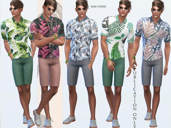 Tropics mens shirt by Sims House at TSR image 89 Sims 4 Updates