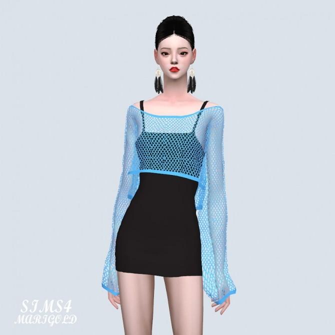 Crop See through Knit Dress (P) at Marigold image 8915 670x670 Sims 4 Updates