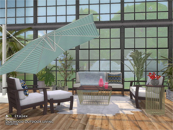 Dogwood Outdoor Living by ArtVitalex at TSR image 897 Sims 4 Updates