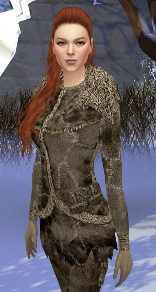 Sims 4 Game of Thrones Wildling Ygritte Fur Outfit by HIM666 at Mod The Sims