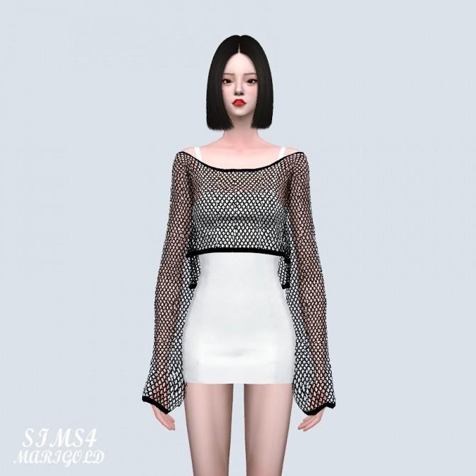 Crop See through Knit Dress (P) at Marigold image 9016 670x670 Sims 4 Updates