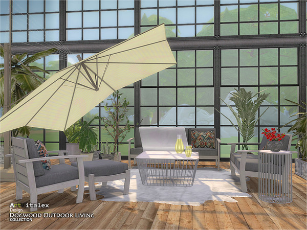 Dogwood Outdoor Living by ArtVitalex at TSR image 908 Sims 4 Updates