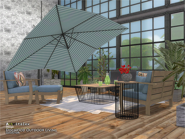 Dogwood Outdoor Living by ArtVitalex at TSR image 9112 Sims 4 Updates