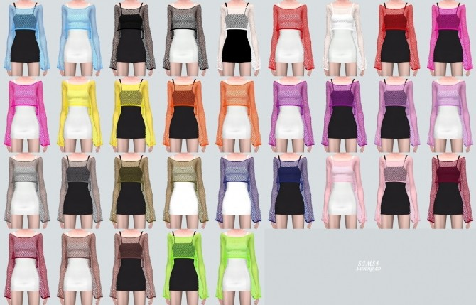 Crop See through Knit Dress (P) at Marigold image 9120 670x429 Sims 4 Updates
