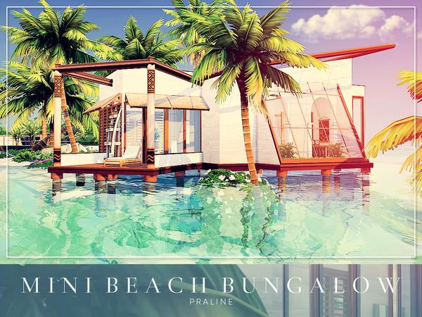 Sims 4 Mini Beach Bungalow by Pralinesims at TSR