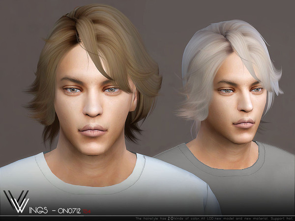 Sims 4 WINGS ON0712 hair by wingssims at TSR