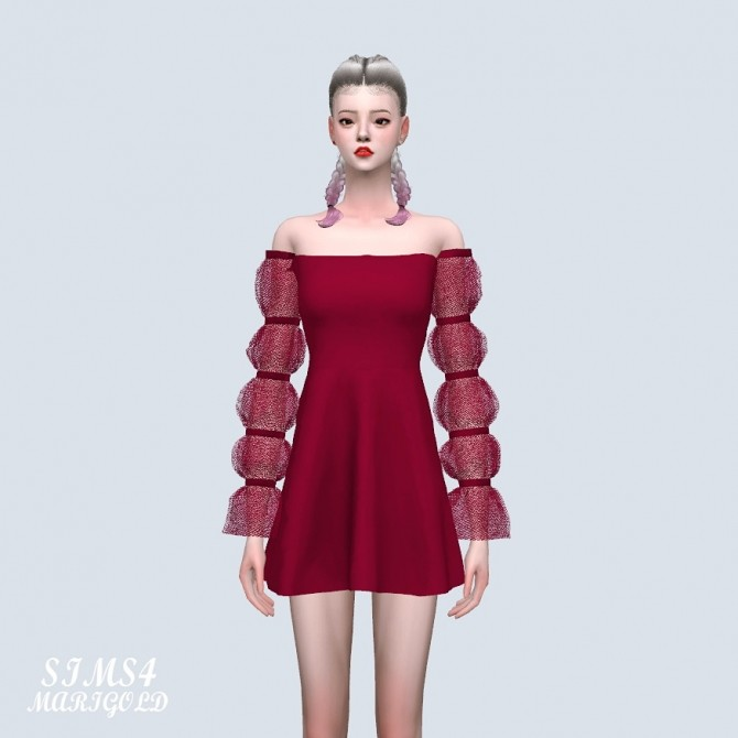 Sims 4 Fantastic Mini Dress (P) at Marigold