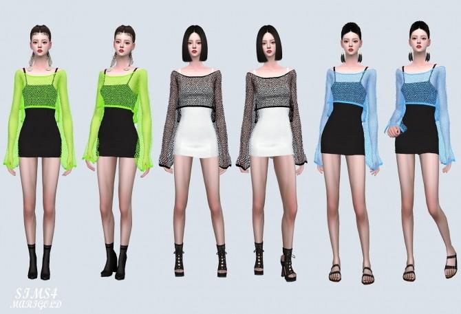 Crop See through Knit Dress (P) at Marigold image 9218 670x457 Sims 4 Updates