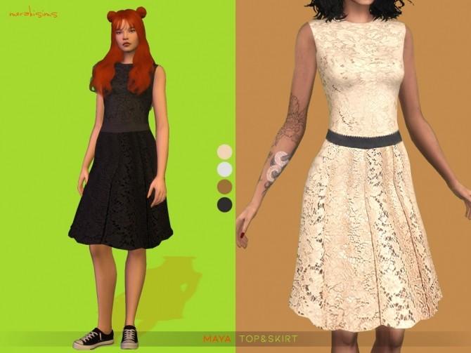 Sims 4 Maya Top and Skirt at Merakisims
