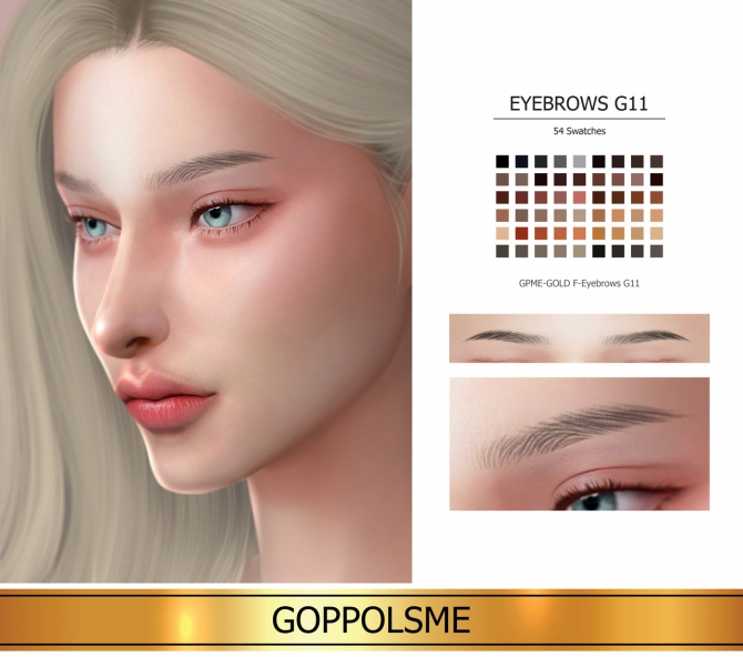 GPME-GOLD F-Eyebrows G11 At GOPPOLS Me » Sims 4 Updates
