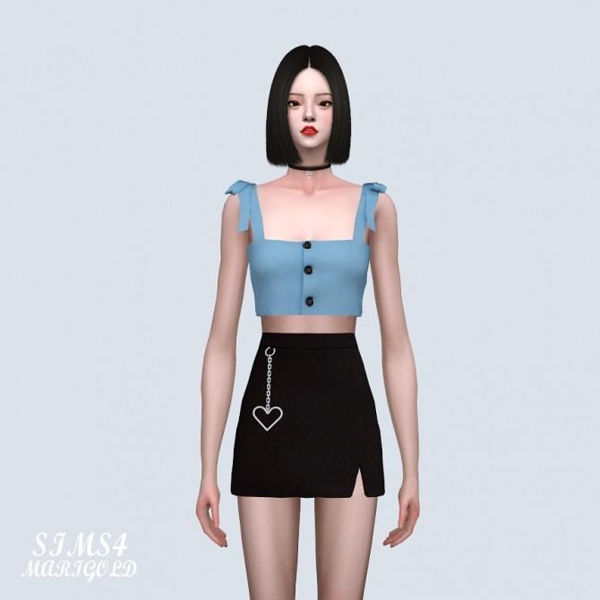 Sims 4 Ribbon Strap Button Bustier (P) at Marigold