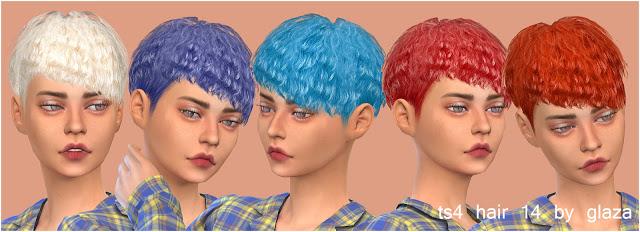 Sims 4 Hair 14 (P) at All by Glaza