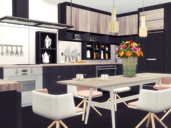 Sims 4 LEXI modern house by marychabb at TSR