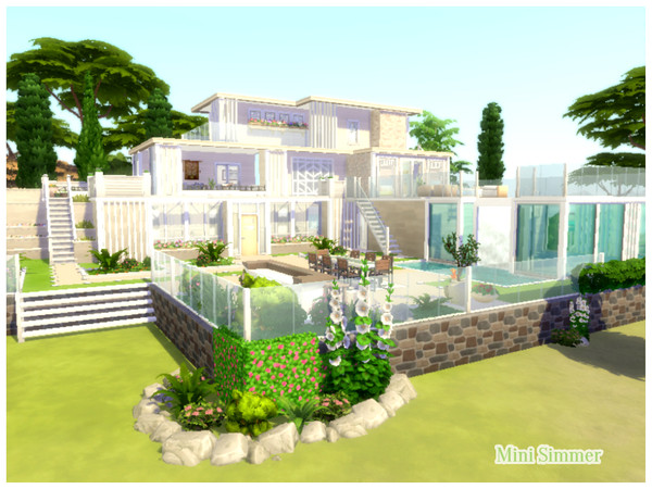 Modern Dream house by Mini Simmer at TSR image 1 Sims 4 Updates