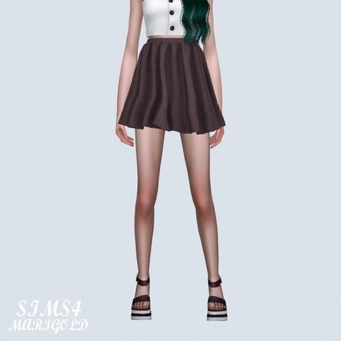 Sims 4 High Waist Flare Mini Skirt (P) at Marigold