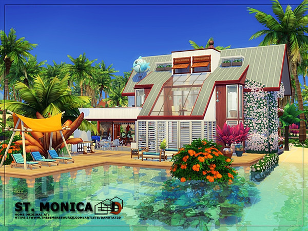 ST. Monica house by Danuta720 at TSR image 102101 Sims 4 Updates