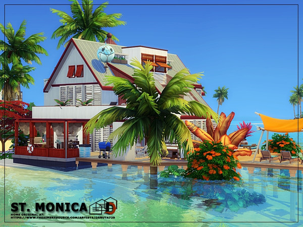 ST. Monica house by Danuta720 at TSR image 10310 Sims 4 Updates
