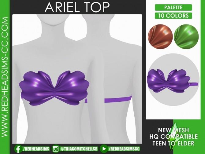 ARIEL MERMAID SET by Thiago Mitchell at REDHEADSIMS image 1053 670x504 Sims 4 Updates