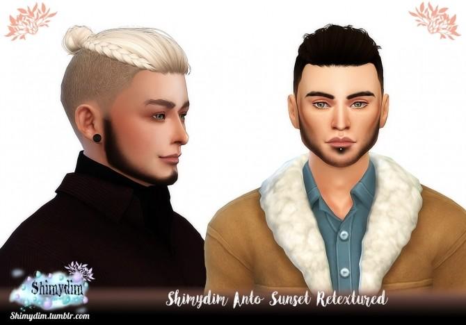 Sims 4 Anto Sunset Hair Retexture Naturals + Unnaturals at Shimydim Sims