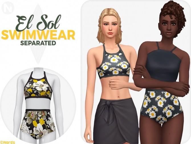 Sims 4 El Sol Separated Swimwear at Nords Sims