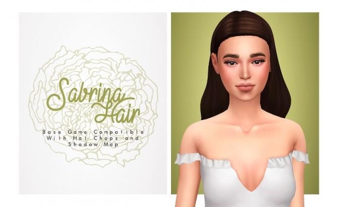 Sims 4 Sabrina Hair at Isjao – working on uni