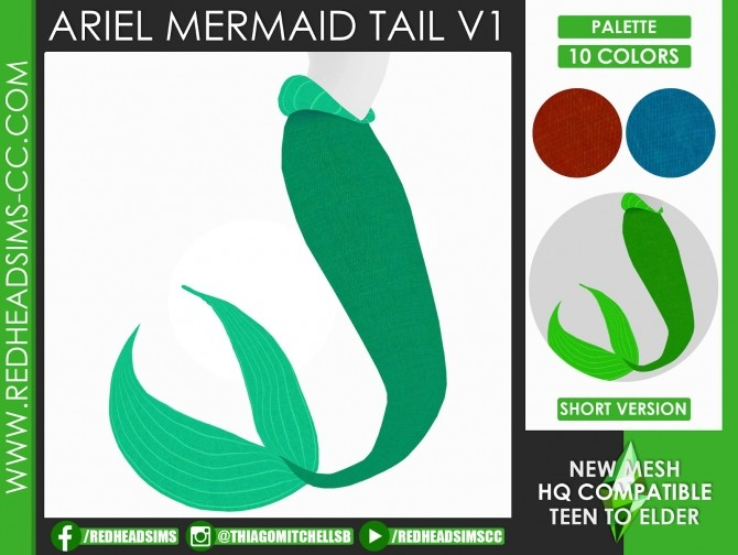 ARIEL MERMAID SET by Thiago Mitchell at REDHEADSIMS image 1062 670x504 Sims 4 Updates