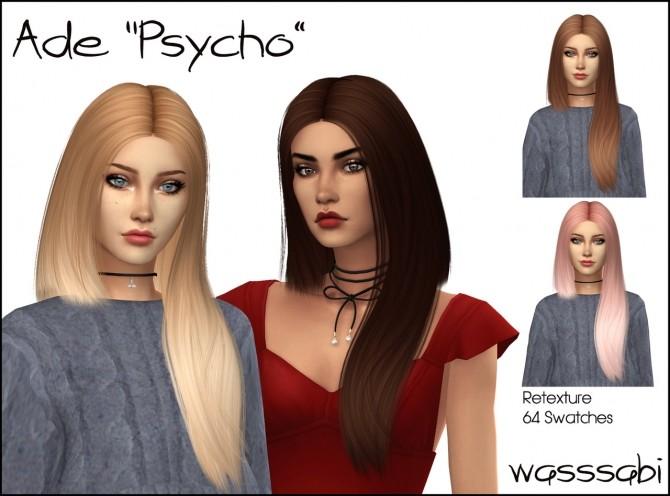 Sims 4 Ade Psycho hair retexture at Wasssabi Sims
