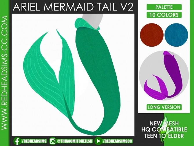 ARIEL MERMAID SET by Thiago Mitchell at REDHEADSIMS image 1073 670x504 Sims 4 Updates