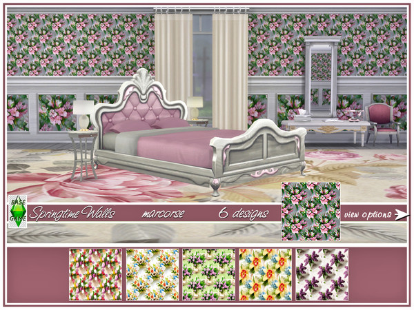 Springtime Walls by marcorse at TSR image 111 Sims 4 Updates