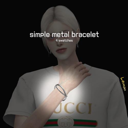 Sims 4 Simple metal bracelet at Lemon Sims 4