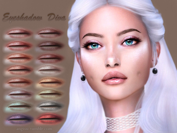 Sims 4 Diva eyeshadow by ANGISSI at TSR